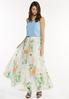 Plus Size Mesh Floral Maxi Skirt alt view