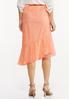 Plus Size Asymmetrical Lace Midi Skirt alternate view