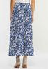 Plus Size Tiered Paisley Maxi Skirt alternate view