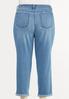 Plus Size Casual Boyfriend Jeans alternate view