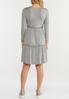 Plus Size Gray Ruffled Babydoll Dress alternate view
