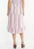 Berry Stripe Midi Skirt alternate view
