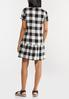 Plus Size Black And White Gingham Dress alternate view