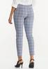 Cropped Navy Plaid Pants alternate view