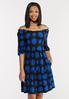 Plus Size Polka Dot Puff Sleeve Dress alt view