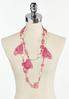 Beaded Pink Chiffon Layered Necklace alternate view