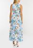 Plus Petite Ruffled Sky Floral Dress alternate view