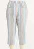 Plus Size Cropped Striped Pants alternate view