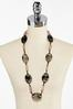 Lucite Oval Cord Necklace alt view