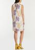 Plus Size Shimmer Floral Pleated Dress alternate view