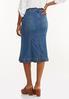 Plus Size Tulip Denim Skirt alternate view