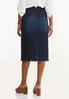 Plus Size Classic Dark Wash Denim Skirt alternate view