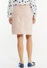 Plus Size Blush Denim Skirt alternate view