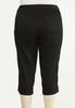 Plus Size Cropped Black Jeans alternate view