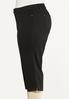 Plus Size Cropped Black Jeans alt view
