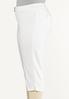 Plus Size Cropped White Jeans alt view