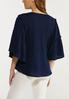 Plus Size Waffle Flutter Sleeve Top alternate view
