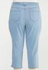 Plus Size Cropped Lightwash Skinny Jeans alternate view