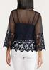 Plus Size Floral Crochet Top alternate view