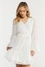 Plus Size Textured Dot Faux Wrap Dress alternate view