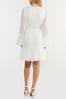 Plus Size Textured Dot Faux Wrap Dress alt view