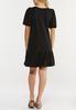 Plus Size Black Bubble Hem Dress alternate view
