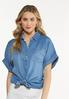 Chambray Button Collar Tunic alt view