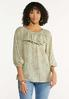 Ruffled Paisley Off Shoulder Top alt view