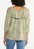 Plus Size Ruffled Paisley Off Shoulder Top alternate view