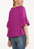 Plus Size Purple Tiered Poet Top alternate view