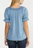 Ruched Chambray Top alternate view