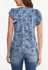 Plus Size Paisley Chambray Top alternate view
