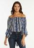 Floral Stripe Poet Top alt view