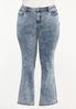 Plus Size Dark Vintage Wash Jeans alternate view