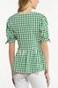 Plus Size Green Gingham Top alt view
