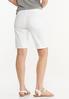 White Denim Bermuda Shorts alternate view