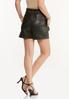 Faux Leather Paperbag Shorts alternate view