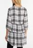 Plus Size Plaid Tiered Tunic alternate view