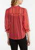 Plus Size Sheer Striped Top alternate view