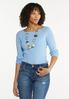 Boat Neck Ribbed Sweater alt view