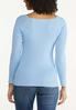 Plus Size Boat Neck Ribbed Sweater alternate view