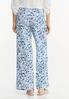 Floral Linen Wide Leg Pants alternate view