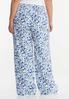 Plus Size Floral Linen Wide Leg Pants alternate view