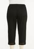 Plus Size Cropped Black Lattice Jeans alternate view