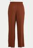 Plus Size Textured Tie Front Pants alternate view