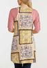 Plus Size Patchwork Floral Vest alternate view