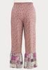 Plus Size Floral Patchwork Pants alternate view