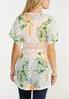 Plus Size Floral Lace Cardigan alternate view