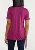 Plus Size Ruched Side Tee alternate view