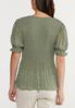 Plus Size Green Dotted Top alternate view